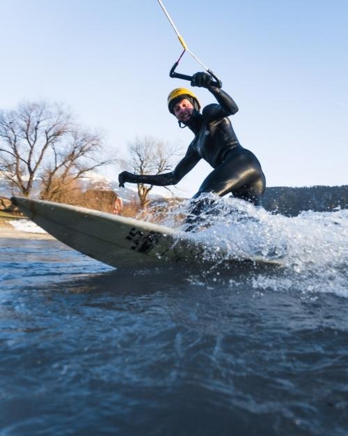 Surfer auf Wasser
