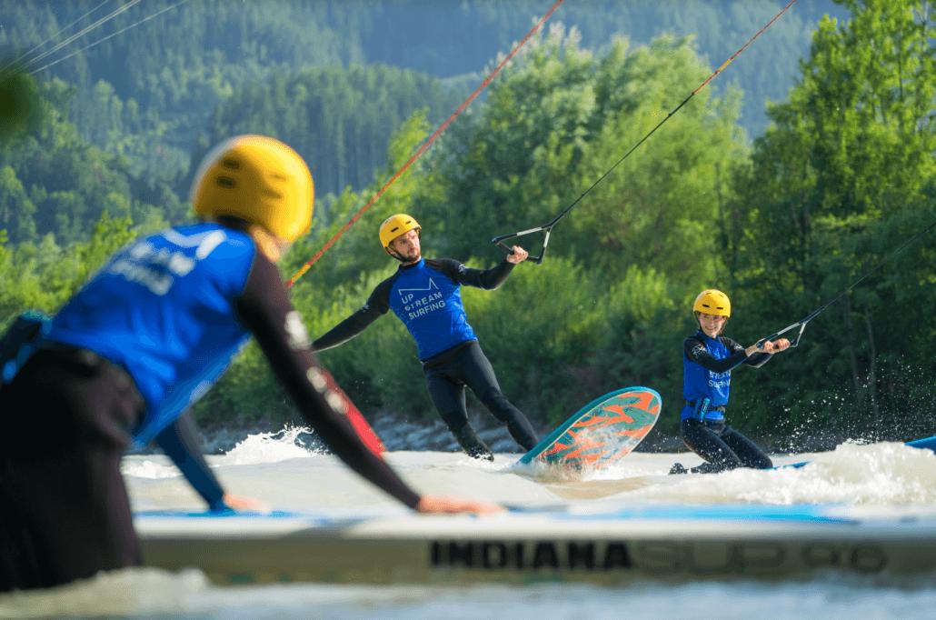 Surfkurs Surfer am statischen Seil